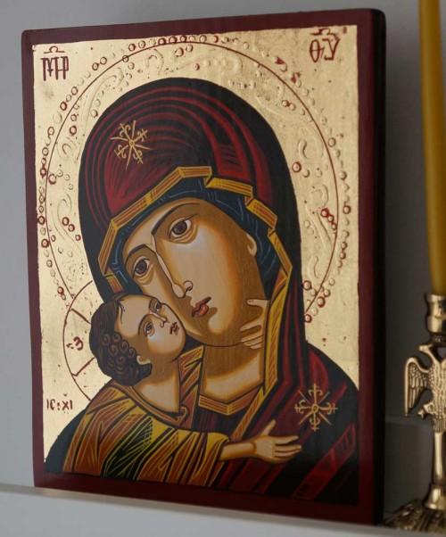 Virgin Mary Vladimirskaya (small) Hand-Painted Orthodox Icon