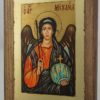 Archangel Michael small Hand Painted Byzantine Orthodox Icon on Wood