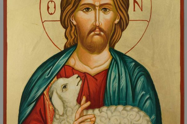 Christ the Good Shepherd Icon Orthodox Hand Painted Large