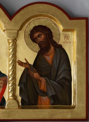 Deesis St John the Baptist Hand-Painted Orthodox Icon