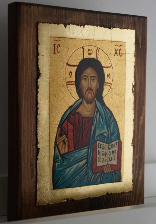 Jesus Christ Pantokrator Hand-Painted Orthodox Icon