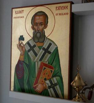 Saint Patrick of Ireland (40cm) Hand-Painted Orthodox Icon