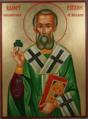 Saint Patrick of Ireland (40cm) Hand-Painted Orthodox Icon