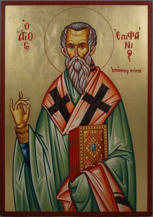 Saint Epiphanius Hand-Painted Greek Orthodox Icon