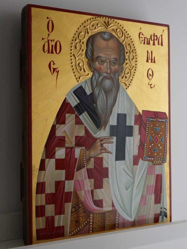 St Epiphanius of Salamis Hand-Painted Greek Orthodox Icon