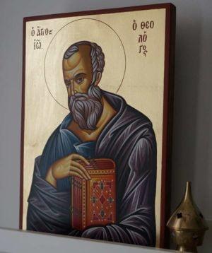 St John the Theologian Hand-Painted Greek Orthodox Icon