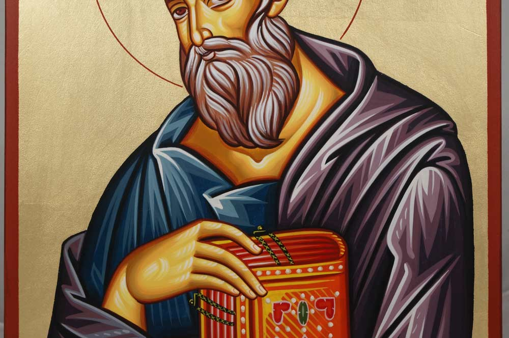 St John the Theologian Hand-Painted Greek Orthodox Icon