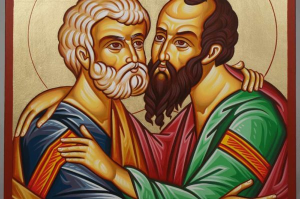 Apostles St Peter and St Paul Hand-Painted Orthodox Icon