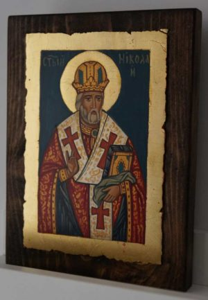 St Nicholas of Myra small Hand Painted Byzantine Icon