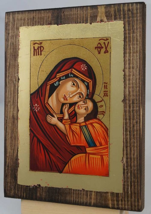 Theotokos Sweet Loving small Hand Painted Icon Byzantine Orthodox