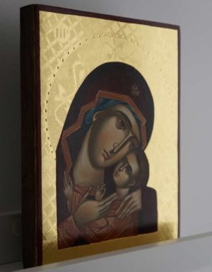 Theotokos Tenderness (polished gold) Hand-Painted Orthodox Icon