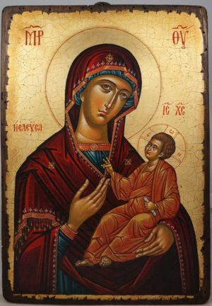Virgin Mary Hodegetria Theotokos Guide Hand-Painted Greek Orthodox Icon