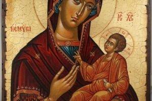 Virgin Mary Hodegetria Theotokos Guide Hand-Painted Greek Orthodox Icon