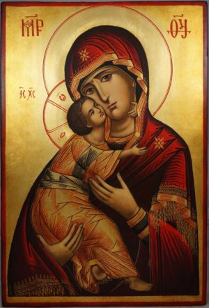 Our Lady of Vladimir Theotokos Vladimirskaya Hand-Painted Orthodox Icon