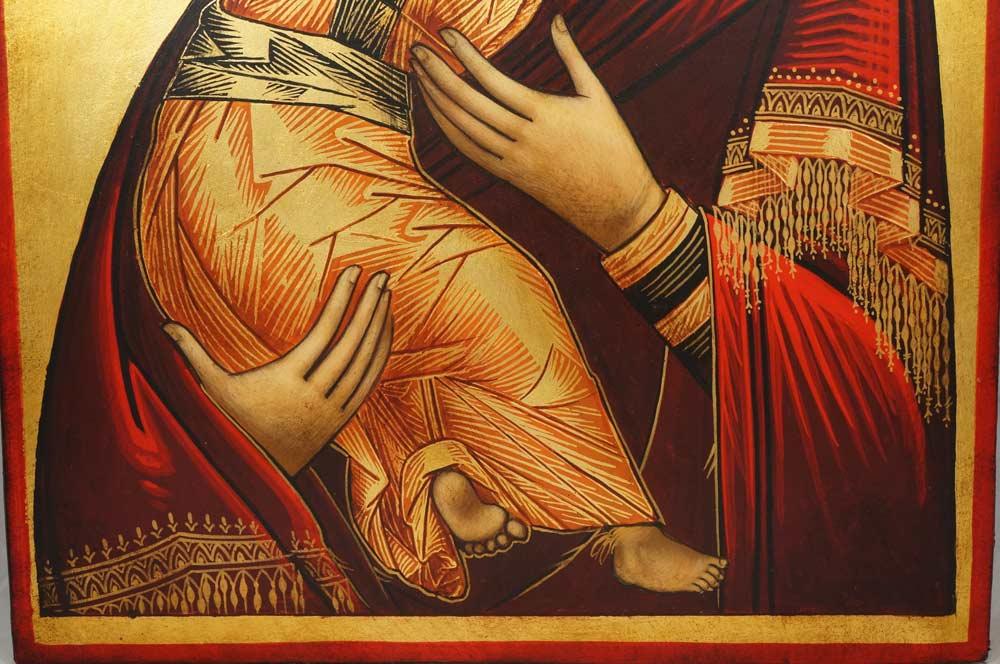 Our Lady of Vladimir Theotokos Vladimirskaya Hand-Painted Orthodox Icon