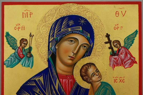 Our Lady of Perpetual Help Hand Painted Orthodox Icon on Wood