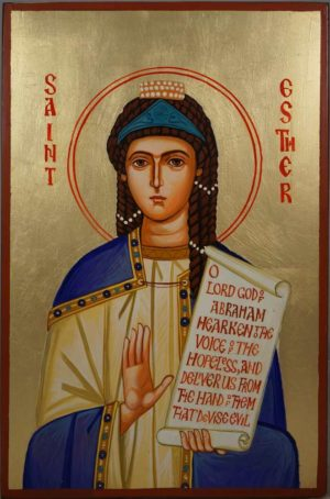 St Esther the Righteous Hand-Painted Orthodox Icon