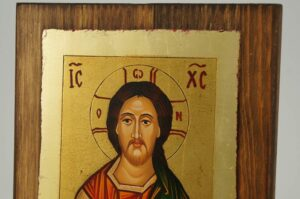 Christ Pantocrator small Icon Hand Painted Byzantine Orthodox