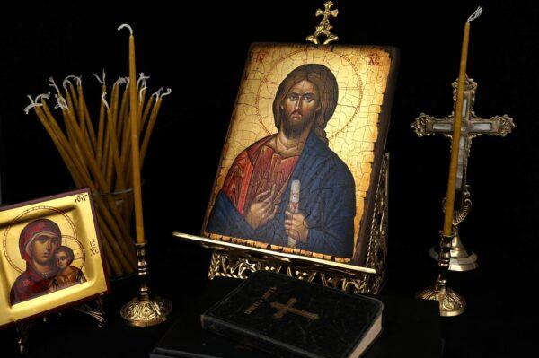 Single Brass Candle Holder Orthodox Candlestick