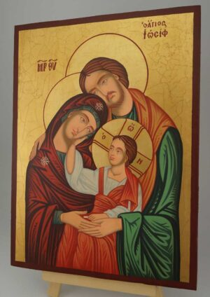 Holy Family Icon Large Hand Painted Byzantine Orthodox