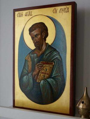 St Apostle and Evangelist Luke Hand-Painted Icon