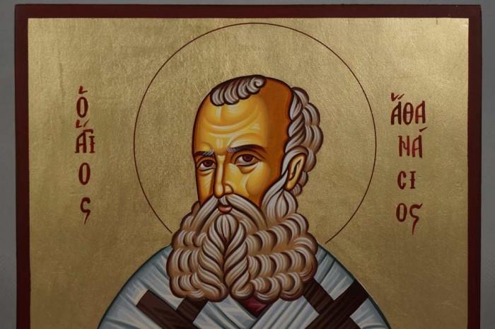 Saint Athanasius the Great Hand-Painted Orthodox Icon