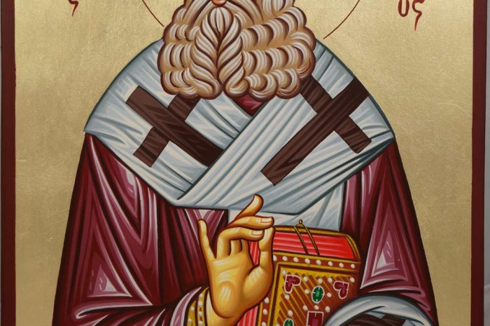 Saint Athanasius the Great Hand-Painted Orthodox Icon