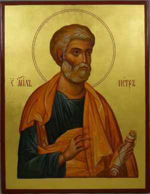 St Saint Apostle Peter Hand-Painted Orthodox Icon