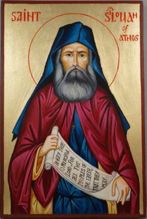Saint St Silouan of Athos Hand Painted Greek Orthodox Icon