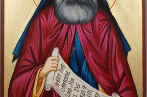 Saint St Silouan of Athos Hand Painted Greek Orthodox Icon