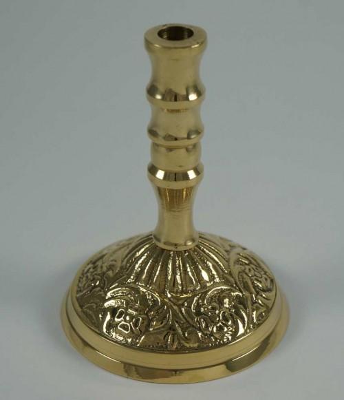 Single Brass Byzantine Candle Holder