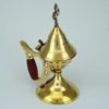 Small Brass Incense Burner Wooden Handle