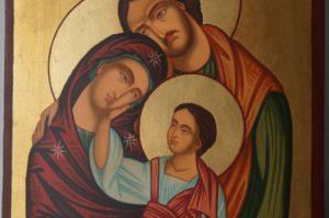 Holy Family (Large) Hand-Painted Byzantine Orthodox Icon