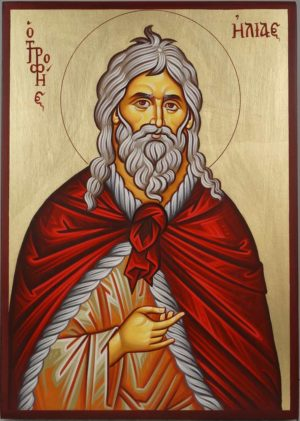 The Holy Prophet Elias Ilias Elijah Hand-Painted Orthodox Icon