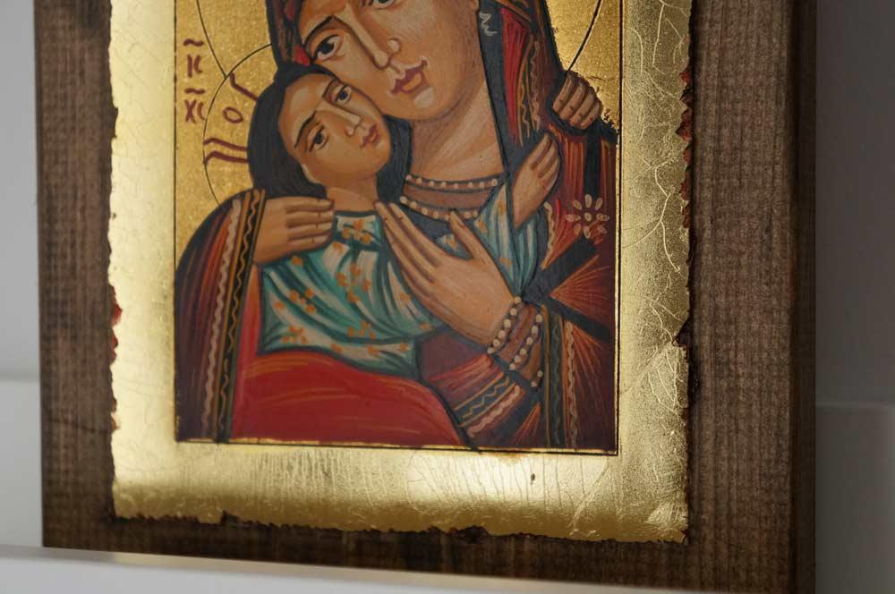 Theotokos Eleusa Rila small Hand Painted Orthodox Icon on Wood