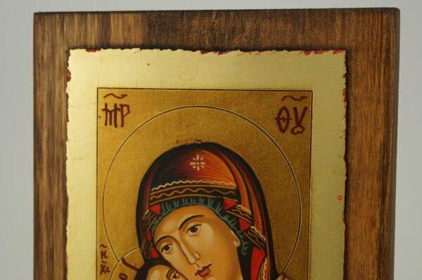 Theotokos Eleusa Rila small Icon Hand Painted Byzantine Orthodox