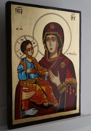 Virgin Mary Troeruchitsa Hand-Painted Orthodox Icon