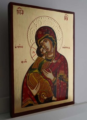 Theotokos of Vladimir Hand-Painted Orthodox Icon