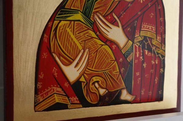Theotokos of Vladimir Hand-Painted Orthodox Icon