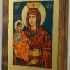 Virgin Mary Trojerucica small Hand Painted Orthodox Icon