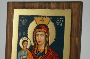 Virgin Mary Trojerucica small Icon Hand Painted Byzantine Orthodox