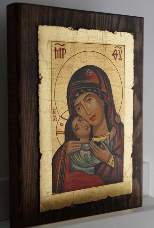 Theotokos Eleusa Rila Hand-Painted Orthodox Icon