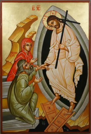 Anastasis (The Resurrection) Hand-Painted Orthodox Icon