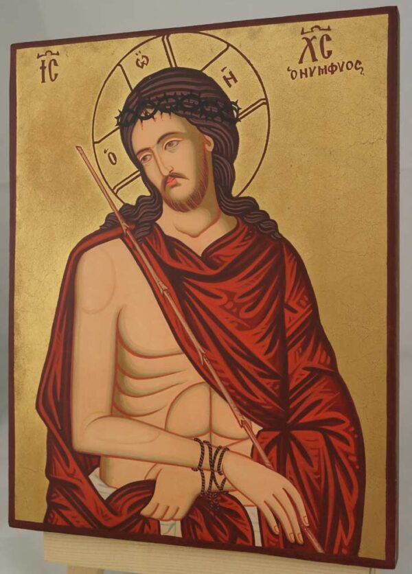 Christ the Bridegroom O Nymphios Hand Painted Icon Byzantine Orthodox on Wood