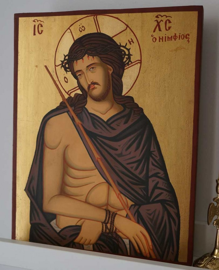 Christ the Bridegroom O Nymphios Hand Painted Orthodox Icon on Wood
