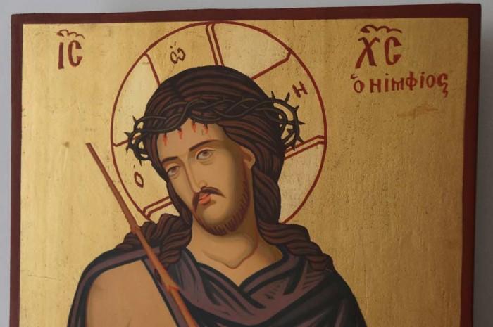 Christ the Bridegroom O Nymphios Hand Painted Orthodox Icon on Wood