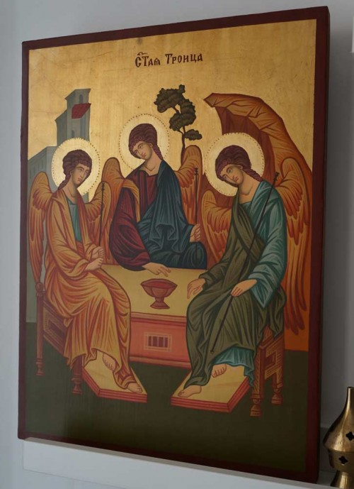 Hospitality Of Abraham (Large) Hand-Painted Orthodox Icon