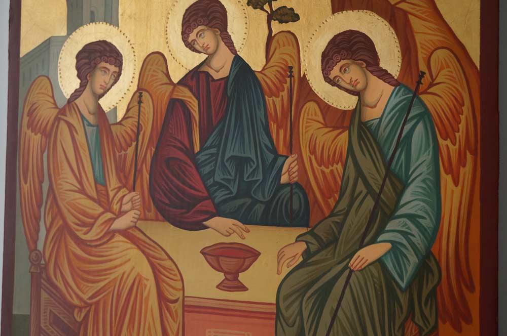 Hospitality Of Abraham (Large) Hand-Painted Orthodox Icon
