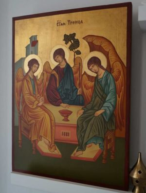 Hospitality of Abraham Andrei Rublev Holy Trinity Hand Painted Orthodox Icon