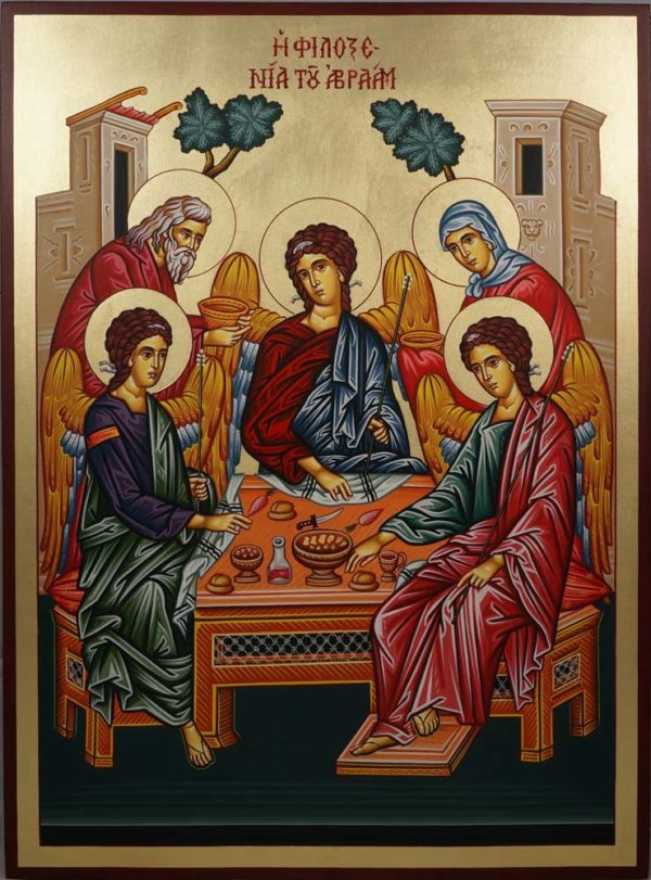 Holy Trinity (Abraham and Sarah) Hand-Painted Icon